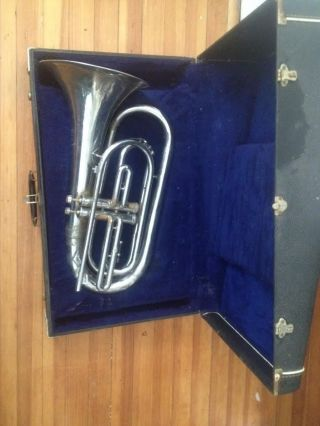 Rare American - Command Power - Bore Baritone Bugle /brass Horn By Heritag Usa photo