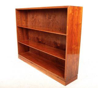 Vintage Bookcase Danish Bookshelves Large Library Open Bookcase Mahogany Rosewoo photo