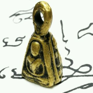 Lp Phra Ngern 3h Joblek Thai Amulet Buddha Holy Pendant Talisman Brass Gift 27.  3 photo