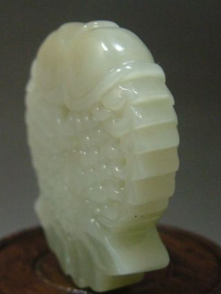 Antique Old Chinese Nephrite Celadon Jade Statues/ Pendant Fish photo