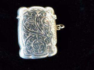 Pretty Silver Vesta Case - Birmingham 1922 - John Rose photo