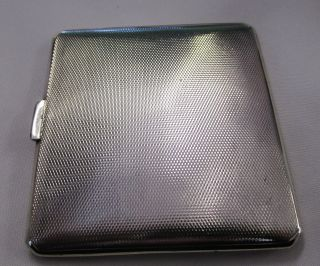 A Stunning Solid Sterling Silver Cigarette Card Case Dates 1937 By Mappin & Webb photo