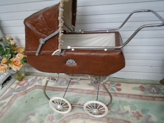 Vintage Mid Century 1950 Coronet Doll Carriage photo