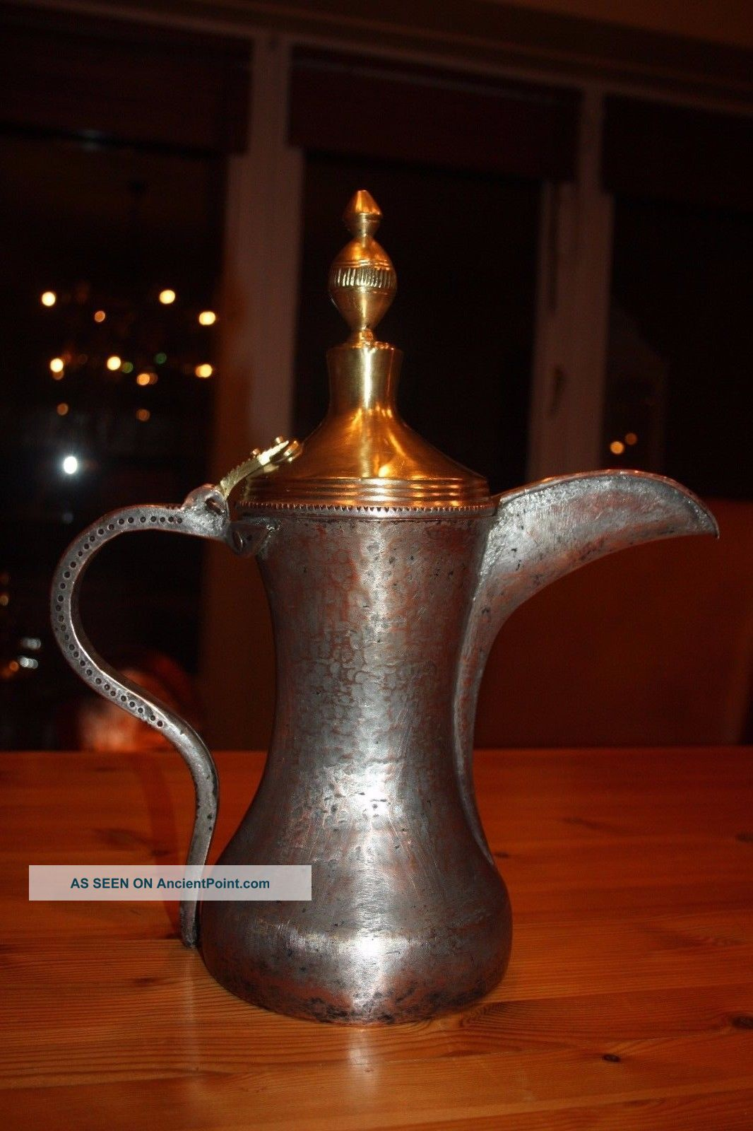 37 Cm Very Antique Muscat Dallah Coffee Pot Middle East Bedouin Islamic photo
