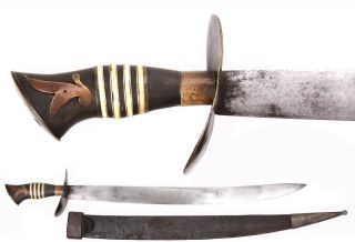Antique Batangas Sword Philippine Luzon Knife Kris Barong Parang Philippines Old photo