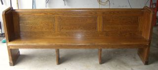 Antique Vintage Church Pew University Of Notre Dame Corby Hall 90