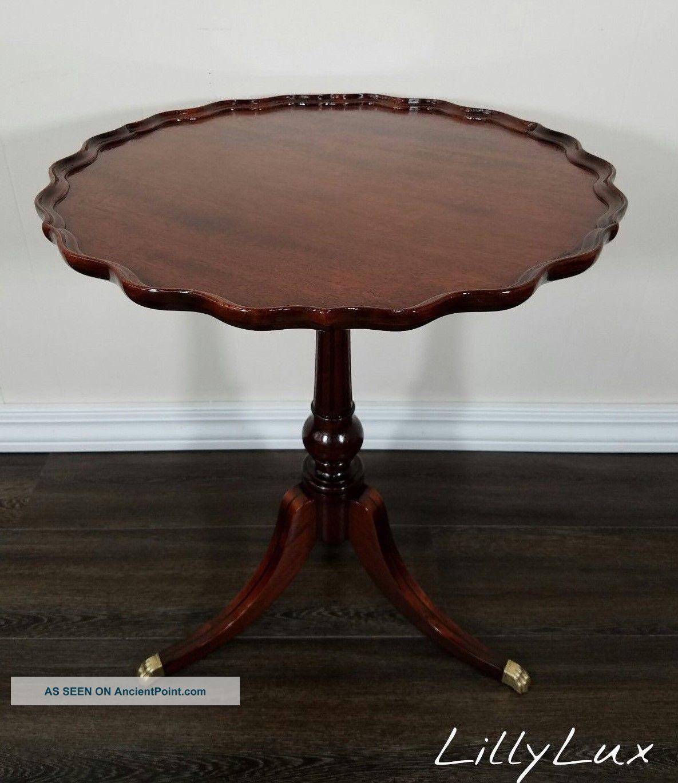 Imperial Red Mahogany Pie Crust Table, True Grand Rapids, Antique, Duncan  Phyfe