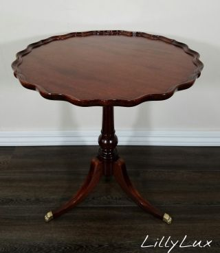 Imperial Red Mahogany Pie Crust Table,  True Grand Rapids,  Antique,  Duncan Phyfe photo