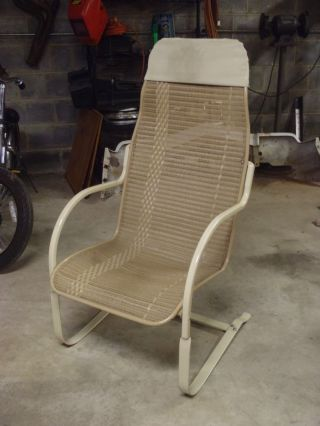 Vintage Lloyd Loom Flanders Wicker Outdoor Patio Bouncy Chair photo