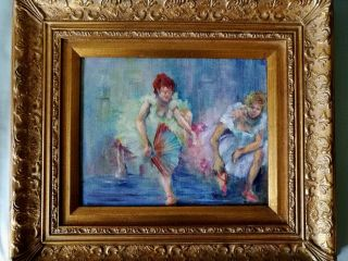 Impressionist Style Oil Painting - Ballerinas photo