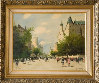 Antal Berkes Painting (hungarian Listed 1874 - 1938) 16