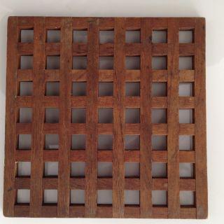 Dansk Ihq Quistgaard Vintage Danish Modern Mid Century Staved Teak Wood Trivet photo