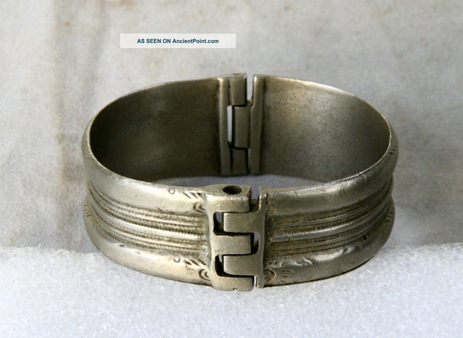 Antique Greek Byzantine Hand Crafted Silver Bracelet Byzantine photo