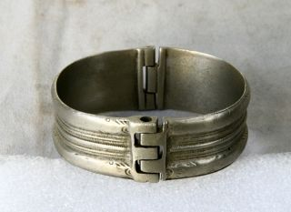 Antique Greek Byzantine Hand Crafted Silver Bracelet photo