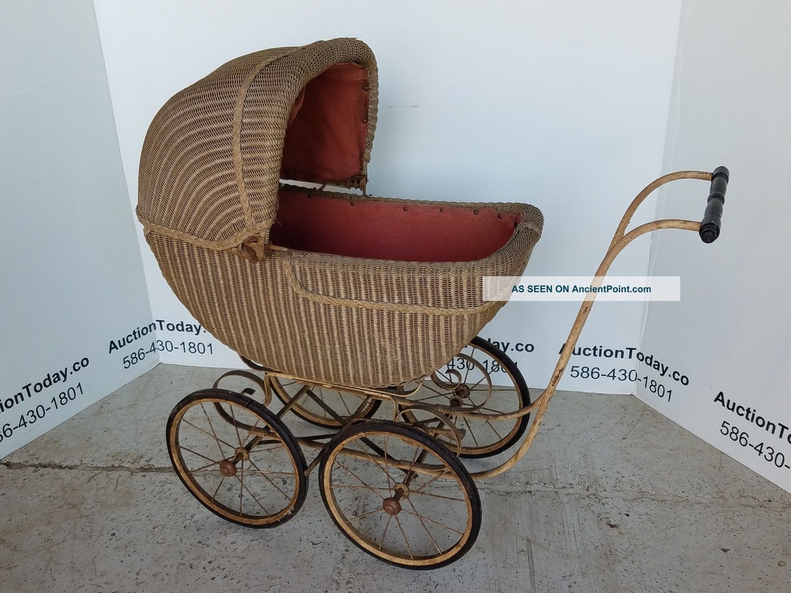 Antique Baby Wicker Stroller - All Baby Carriages & Buggies photo