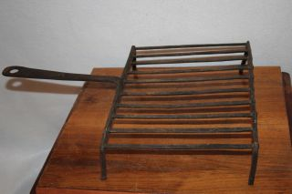 Primitive Antique 1800 ' S Gridiron Hearth Ware Forged Iron Broiler Grill Skillet photo