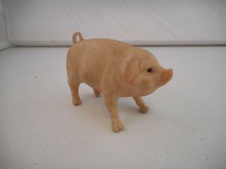 Vintage Antique Porcelain Bisgue Pig Figurine - Germany photo