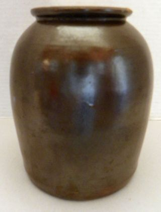 Vintage Brown Crock,  1 Gallon Size,  Rounded Shoulders, photo