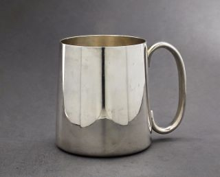 Vintage Silver Plate Tapered 1/2 Half Pint Tankard/jug/mug England Epns Retro photo