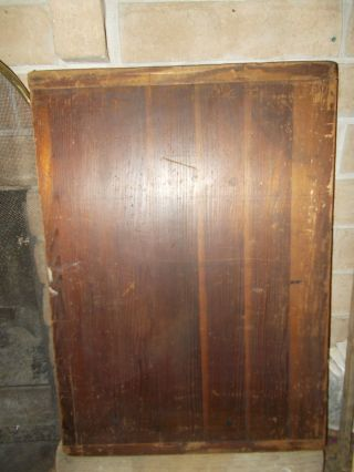 - Antique Early Wooden Butchers Cutting Board - Bakers Ends - Signed photo