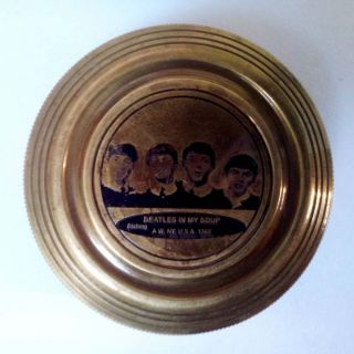 The Beatles Finder Poem Inside Brass Compass Vintage Collectible Gift photo