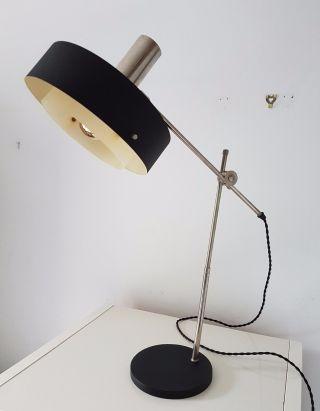 1950s Retro Vintage Stilnovo Knoll Black Desk Lamp Eames Arteluce Arredoluce photo