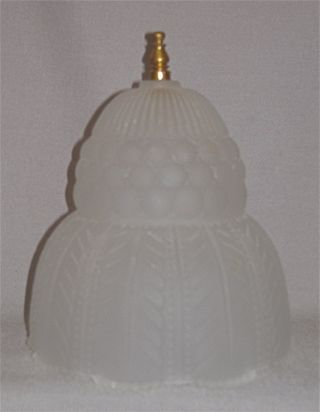 A,  Frosted Art Deco Glass Shade For A Small Art Deco Table Lamp photo