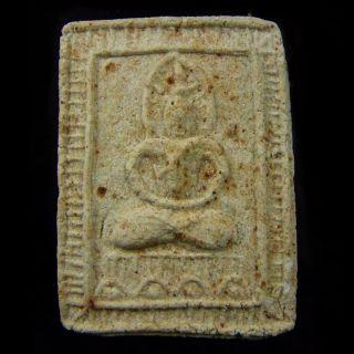 Thai Amulet Buddha Phra Somdej Lp Jun Magic Talisman Wealth Love Lucky Pendant photo