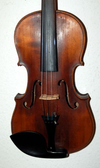 Fine Tigerflamed Antique Handmade German 4/4 Violin - Around 100 Years Old photo