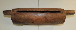 Antique Garamut Slit Drum Guinea Papua Island Hand Carved Authentic Rare photo