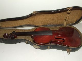 Antique 19th C.  German Or Czech Violin With Case photo