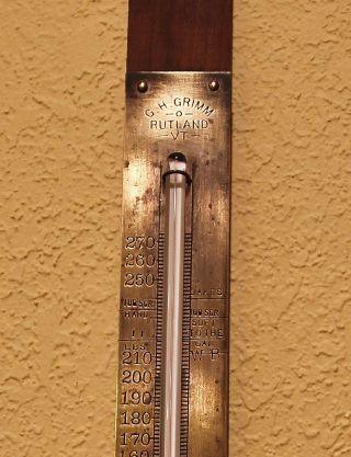 Antique Maple Syrup Hydrometer Themometer G.  H.  Grimm Company,  Rutland,  Vt photo