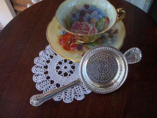 Sterling Silver Tea Strainer Gorham Lancaster Pattern photo