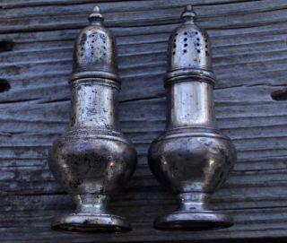 Vintage Sterling Silver Salt & Pepper Shakers,  Unweighted,  66.  29 Grams photo