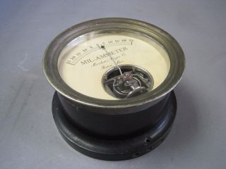 Antique Mil - Ammeter By Macalaster Wiggin Co Boston Mass Incredible Piece photo