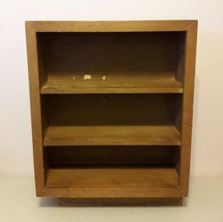 Vtg Mcm Eames Era Bookcase Retro Danish Style 3 Shelves photo