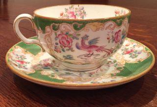 Antique Mintons Floral Swags Porcelain 1 Teacup & 2 Saucers\bird Pattern England photo