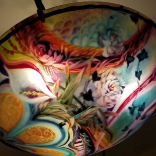 Ulla Darni Chandelier/lamp.  One - Of - A - Kind Handpainted Art photo