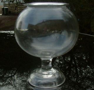Antique C1860 Blown Glass Leech Leeches Jar Early Glass Striations photo