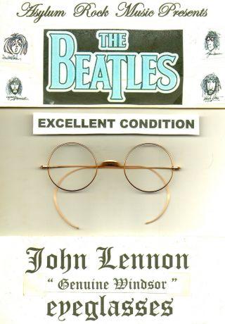 Beatles John Lennon Antique Vintage Windsor Round Eyeglasses Xlt Cond photo