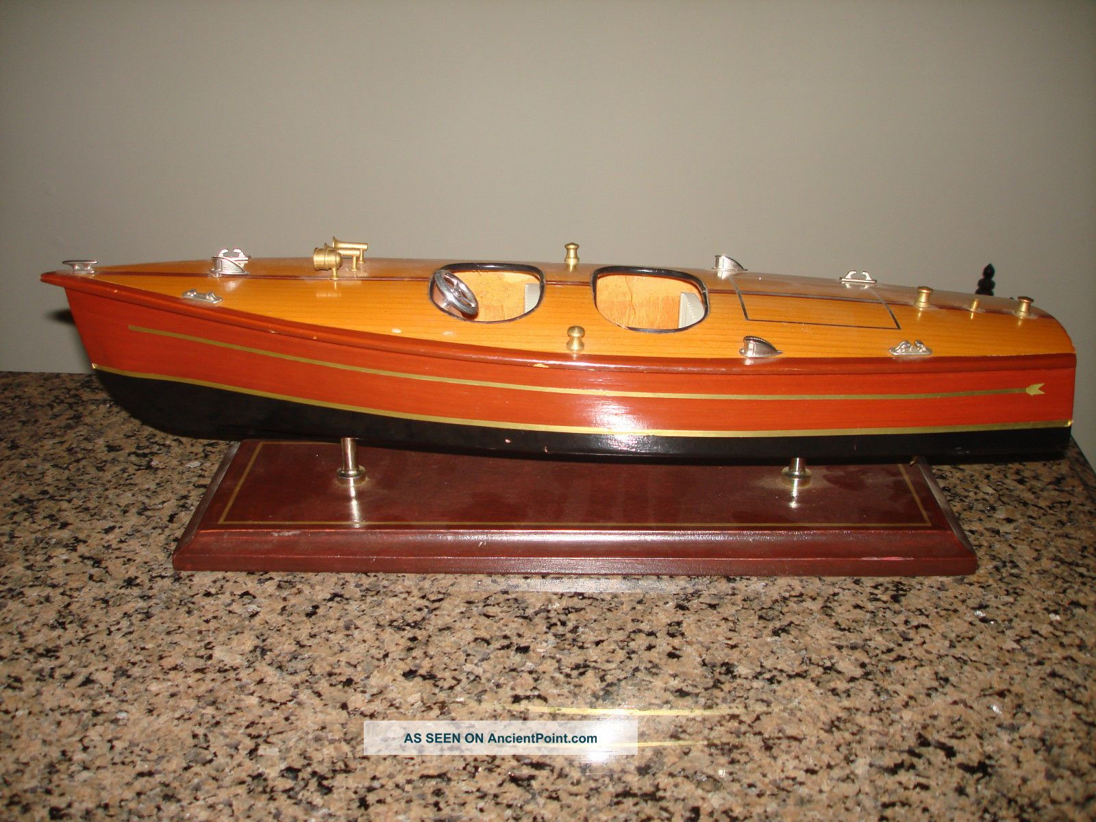 Vintage Chris Craft Runabout Wood Model 16