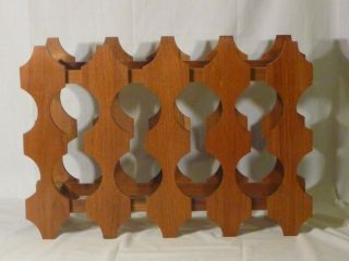 Vintage Mid Century Danish Modern Style Collapsible Wood Wine Rack Hong Kong photo