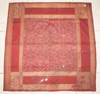 Antique Limar Ikat Songket Headcloth Ceremonial Cloth Palembang Sumatra T - 35 photo