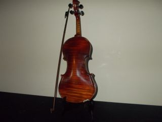 Antique 1920s The Guldan Figured Maple Violin 1pc Back W Fine Inlay Bow&case Nr photo