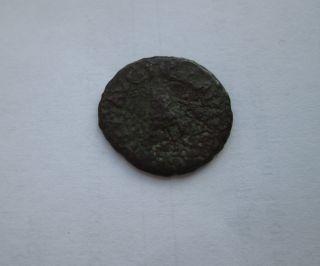 Roman Empire Ancient Bronze Coin Cladius 41 - 54 Ad Quadrans Modius Grain Measure photo