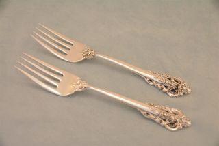 2 Wallace Grande Baroque Sterling Silver 6 - 1/2