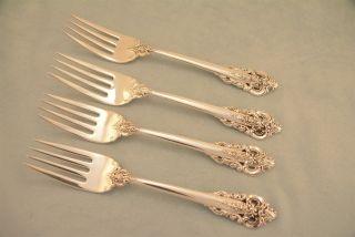 4 Wallace Grande Baroque Sterling Silver 6 - 1/2