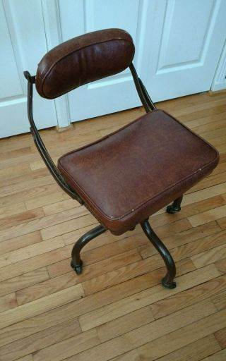 Vtg Domore Rolling Office Chair Do - More Mid Century Ergonomic Custom Fit Swivel photo