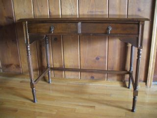 Antique Federal Style Two Drawer Writing Desk,  Vanity,  Hall,  Sofa Table photo