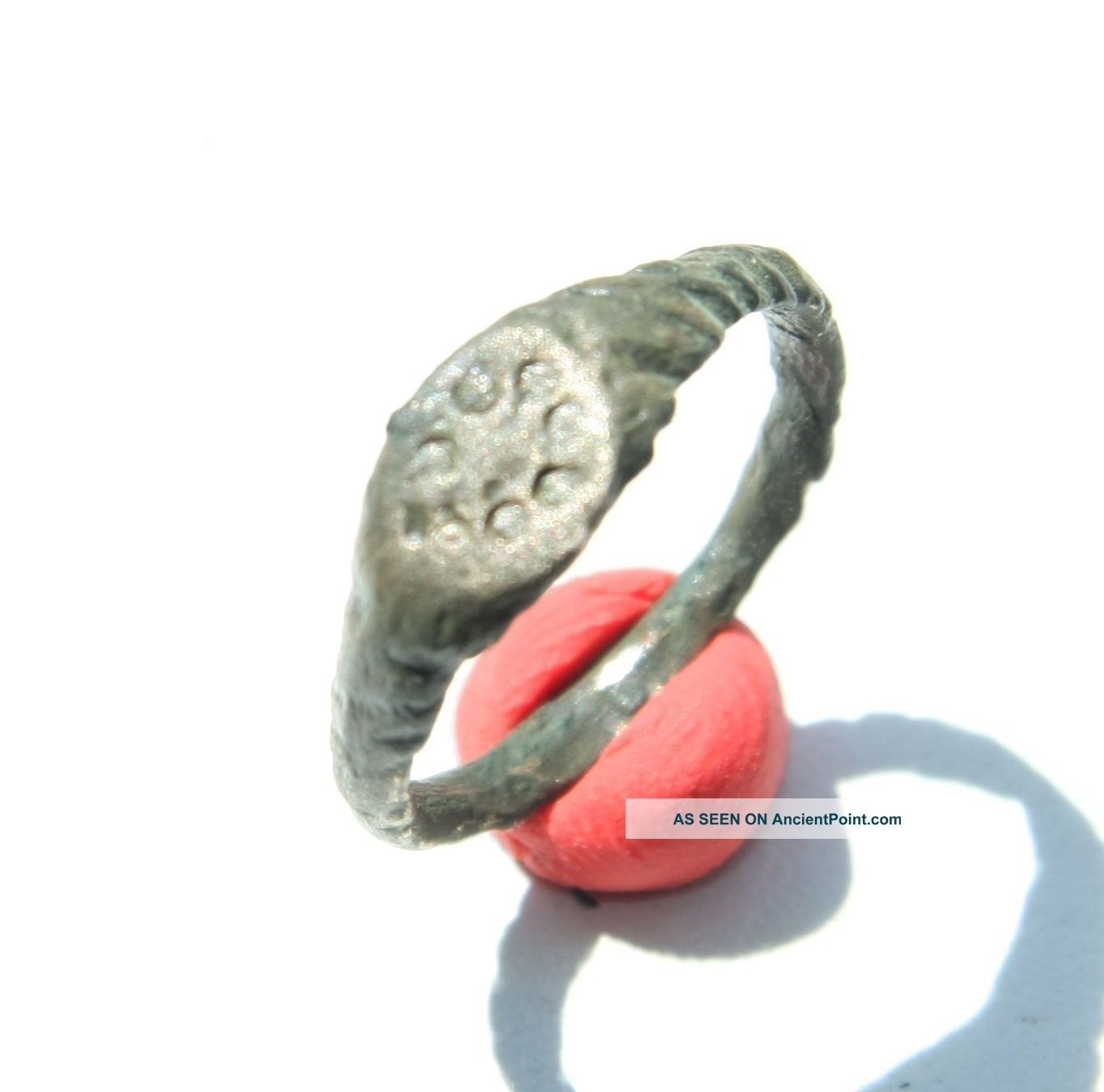 Antique Bronze Finger Ring With Image (jjj04) Byzantine photo